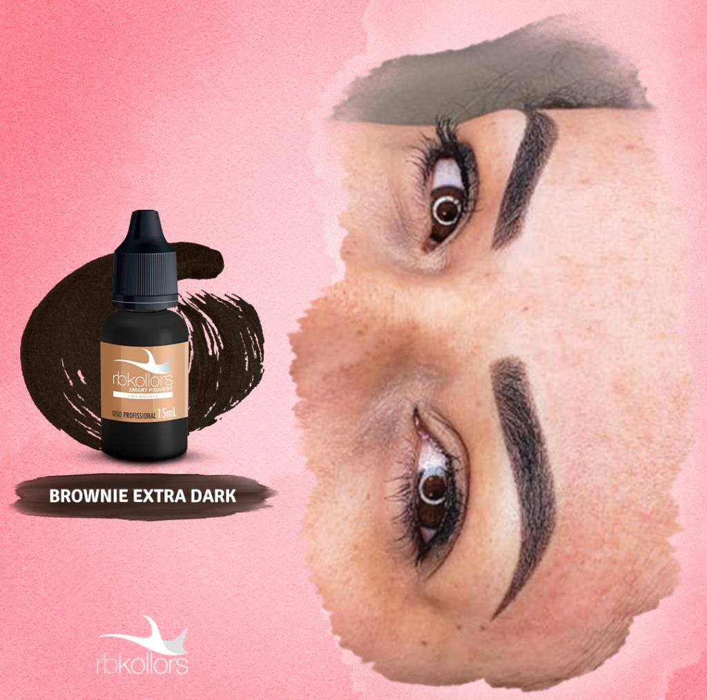 Brownie Extra Dark da Linha Inorgânica RBKollors é equivalente ao pigmento Jamblack