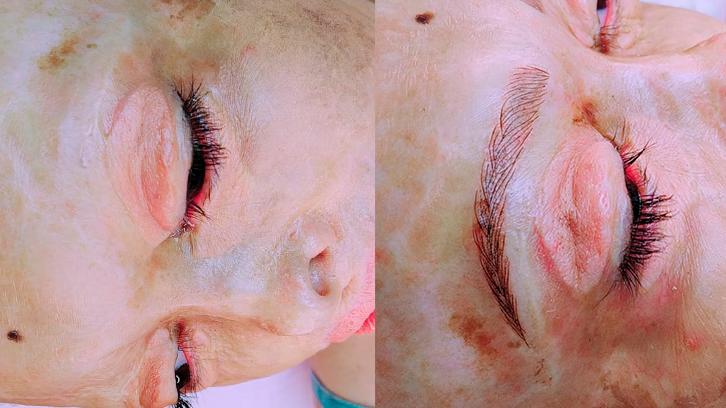 Antes e depois da Thalita com os pigmentos da RBKollors. Transformação e micropigmentação!